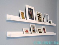 $10 Gallery Ledges Built From Anna White Plans