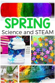 Simple Spring Science and STEAM Activities Spring science activities and STEAM investigations for preschool and elementary. These spring science experiments are sure to be a blast! Easy Science Experiments, Science Activities For Kids, Steam Activities, Kindergarten Science, Spring Activities, Science Fun, Physical Science, Science Classroom, Sensory Activities