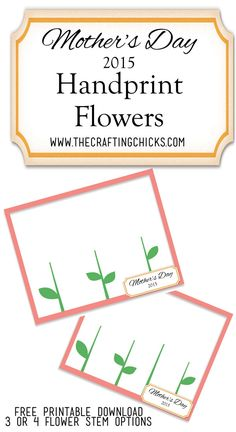 This is such a fun idea! Using my kids hands to make a flower for a Mother's Day gift! Must do this!