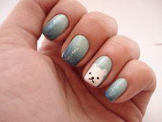La paillette frondeuse: Sunday nail battle #34 // Winter nails