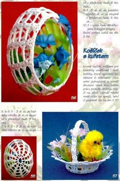 A bunch of crochet Easter eggs, baskets and some clothes. Filet Crochet, Crochet Motif, Easter Crochet Patterns, Egg Basket, Holiday Crochet, Fabric Yarn, Egg Art, Easter Eggs, Diy And Crafts