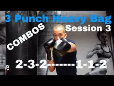 BEGINNER BOXING.  3 PUNCH HEAVY BAG COMBOS - YouTube