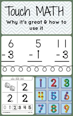 Are you familiar with Touch Math? This visually based approach can be perfect for our learners. It embeds prompting Touch Point Math, Touch Math, Elementary Math, Kindergarten Math, Teaching Math, Teaching Ideas, Preschool, Math Strategies, Math Resources