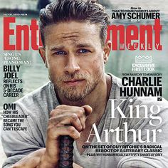 Charlie Hunnam Handling a Sword as King Arthur Will Give You Tingles: Charlie Hunnam's piercing blue eyes are on the cover of Entertainment Weekly, along with the rest of his ridiculously hot body.