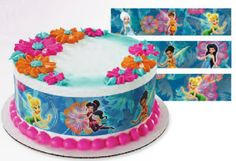 Disney Fairies Tinkerbell Fairy Friends Designer Sheet EDIBLE Image Cake Cupcake Topper LICENSED