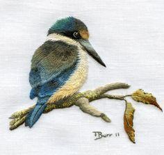 Trish Burr Embroidery Kit Kotare Kingfisher