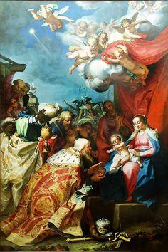 Adoration of the Magi / Adoración de los Reyes Magos // Ca. 1624 // Abraham Bloemaert // Musée des Beaux-Arts, Grenoble