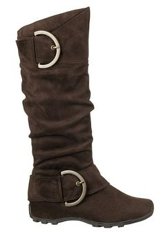 Ricki Buckle Faux Suede Boots - maurices.com...I want these boots so badly!!!