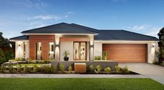 Browse the various new home designs and house plans on offer by Carlisle Homes across Melbourne and Victoria. Find a house plan for your needs and budget today! Family House Plans, Modern House Plans, Modern House Design, Modern Exterior, Exterior Design, New Home Designs, Facade House, House Front, House Colors