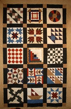 Underground Railroad quilt sampler I am going to make for my Dad. Already have the book & fabric! Colchas Country, Country Quilts, Quilt Studio, Antique Quilts, Vintage Quilts, Quilt Block Patterns, Quilt Blocks, Quilting Projects, Quilting Designs