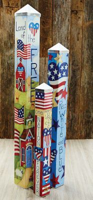 Art Pole Garden Collection - We gave artist Stephanie Burgess of Painted Peace three blank poles to tell a story. This Art Pole Garden was the result. Art Poles feature artwork laminated onto a lightw