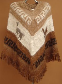 New, exclusive, 100% Alpaca wool, hand knitted, Poncho, cloak, cape, andean, soft, warm, winter, andes, hand woven