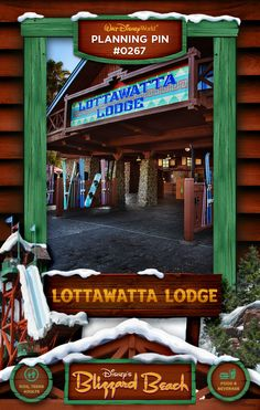 Walt Disney World Planning Pins: Lottawatta Lodge