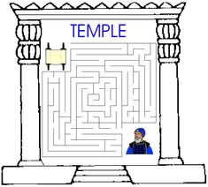 Solomons Temple Coloring Page O34 Salomo Pinterest