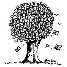 geld groeit aan de boom