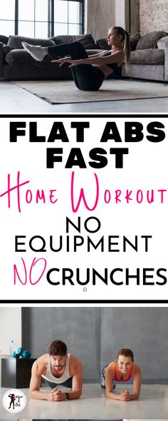 This amazing no crunch ab workout to target upper abs, lower abs, and obliques. Flat Abs Workout, Lower Ab Workouts, Abs Workout Routines, Ab Workout At Home, Belly Fat Workout, At Home Workouts, Workout Tips, Abdominal Exercises, Belly Exercises