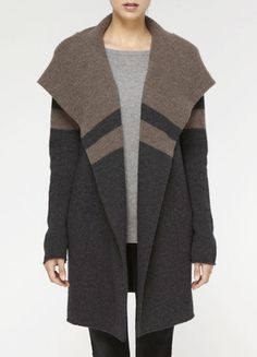 vince blanket coat w/ hood $395