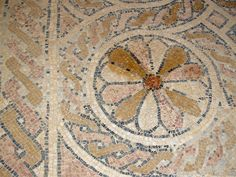 From Wikiwand: Detail from the mosaic floor of the Byzantine church of in Masada. The monastic community lived here in the 5-7th centuries.