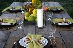 Proper Hunt: tablescape