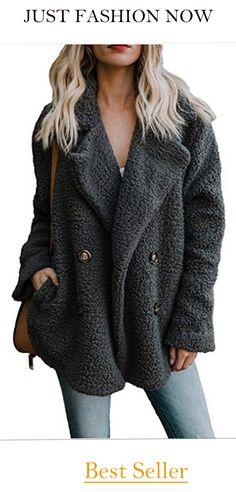 66836f3b322 Find new offer and Similar products for OopStyle Womens Lapel Sherpa Fleece  Open Front Coat Pockets Outerwear.