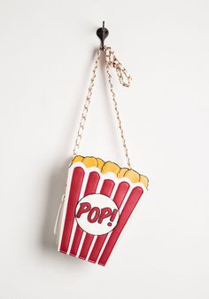 A Look That Pops Bag - Quirky, Food, Girls Night Out, Multi, Novelty Print, Statement