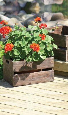 Make gardening a cinch with this pair of rustic planter boxes. Throw in some herbs and easy-growing summer produce, then pull straight out o...