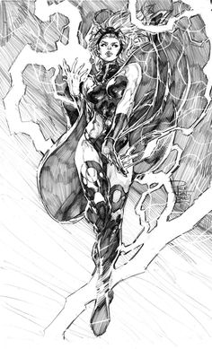 """Drawing Marvel """"Storm"""" by Philip Tan Arte Dc Comics, Marvel Comics Art, Bd Comics, Comic Book Artists, Comic Artist, Comic Books Art, Comic Drawing, Drawing Sketches, Art Drawings"""