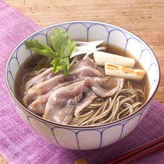 [ご当地グルメ:島根]旧宍道湖七珍味である鴨肉の旨みが最高の一杯を。【鴨南蛮そば 3人前】
