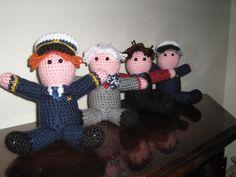 Cabin Pressure mini dolls. Adorable!