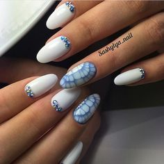 Beautiful summer nails, Everyday nails, Gel polish on the nails oval, Manicure by summer dress, Nails with rhinestones ideas, Party nails, ring finger nails, Snake nails