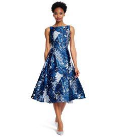 Adrianna Papell Printed Midi Length Dress