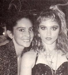 Madonna and friend at party during The Virgin Tour (1985)