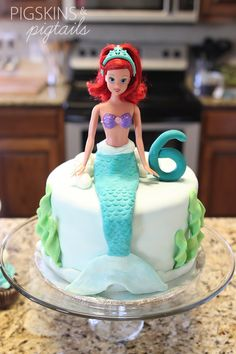 Madysen Birthday? -- Mermaid Cake | pigskins&pigtails