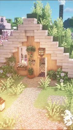 Cute Minecraft Houses, Minecraft Mansion, Minecraft Banner Designs, Amazing Minecraft, Minecraft Decorations, Minecraft House Designs, Minecraft Creations, Minecraft Crafts, Minecraft Cottage House