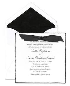 Feathered Edge Invitations - Birchcraft (