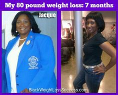 Jacque lost 80 pounds in 7 months | Black Weight Loss Success