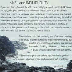INFJ and ENFJ are not known for their individualism as much as other types like… Intj And Infj, Infj Mbti, Estj, Introvert, Infp Personality Type, Infj Type, Just In Case, Psychology, Highly Sensitive