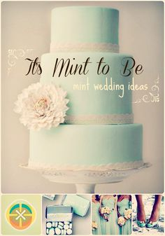 An entire blog dedicated to #mint #wedding ideas to incorporate into your big day - from floral to fashion and decor to dessert - tons of cool ideas with photos!