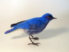 Mountain Blue Bird  Needle felted bird  Made to by Flightofheart