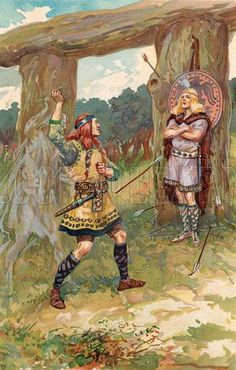 Höðr (often anglicized as Hod, Hoder, or Hodur) is a blind god and the brother of Baldr in Norse mythology. Tricked and guided by Loki, he shot the mistletoe arrow which was to slay the otherwise invulnerable Baldr.
