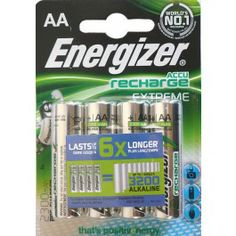 Buy ENERGIZER 2300 mAh AA EXTREME RECHARGEABLE Ni-MH BATTERIES - Pack of 4 for £7.49 | PositiveRecharge.co.uk