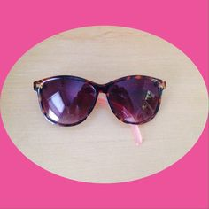 Betsy Johnson sunglasses😎 Worn twice until I realized they didn't look flattering on me! has logo along side of glasses. In good condition except one side is a bit looser than the other. as always pp and trades are not accepted. price is firm. Betsey Johnson Accessories Sunglasses