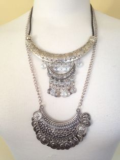Necklace Moroccan Silver Ethnic Afghan Boho Gypsy Tribal Belly Dance Bohemian