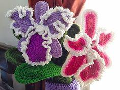 Free Cattleya Orchid Crochet Flower Pattern