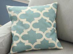 Pillow Cover, Decorative Throw Pillows, Pillow, Throw Pillow, Blue Pillows, Decorative Pillows, Cushions, Beach Decor, Wedding, Shower