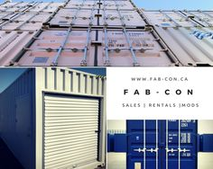 Specializing in the sales, rentals, and modifications of shipping containers for any and all purposes, www.fab-con.ca