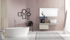 A design #bathtub and a modern furniture give your #bathroom a special mood: Summit 2.0 01 by #Mastella  #MastellaDesign #interiors #interiordesign #furniture #bath #bathroom #bathdesign