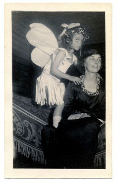 Cute Old Photo – Girl in Fairy Costume