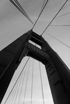 black and white photo of golden gate bridge detail - Google Search