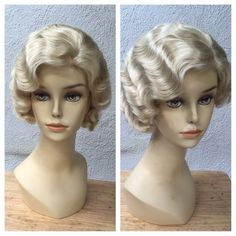 READY to SHIP 1920's Blonde Adult Flapper Wig by littlepennylane 1920s Wig, 1920s Flapper, Costume Wigs, Costume Shop, Costumes, Finger Wave Hair, 20s Fashion, Wig Cap, Platinum Blonde